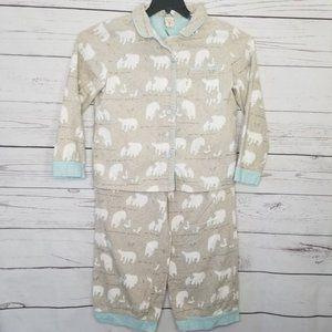 Munki Munki | Polar Bear Fleece Pajama Set